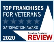 Franchise Business Review - Top Franchises for Veterans Satisfaction Award 2020