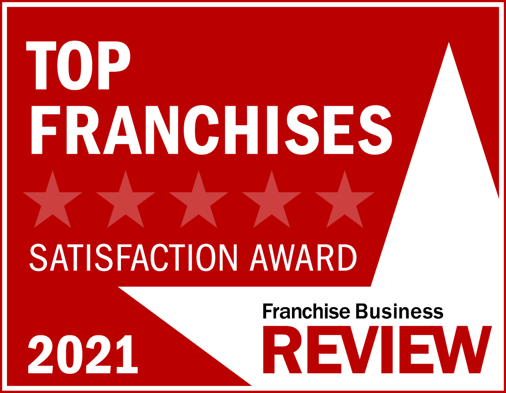 Top Franchise Satisfaction award for 2021 badge by Franchise Business Review